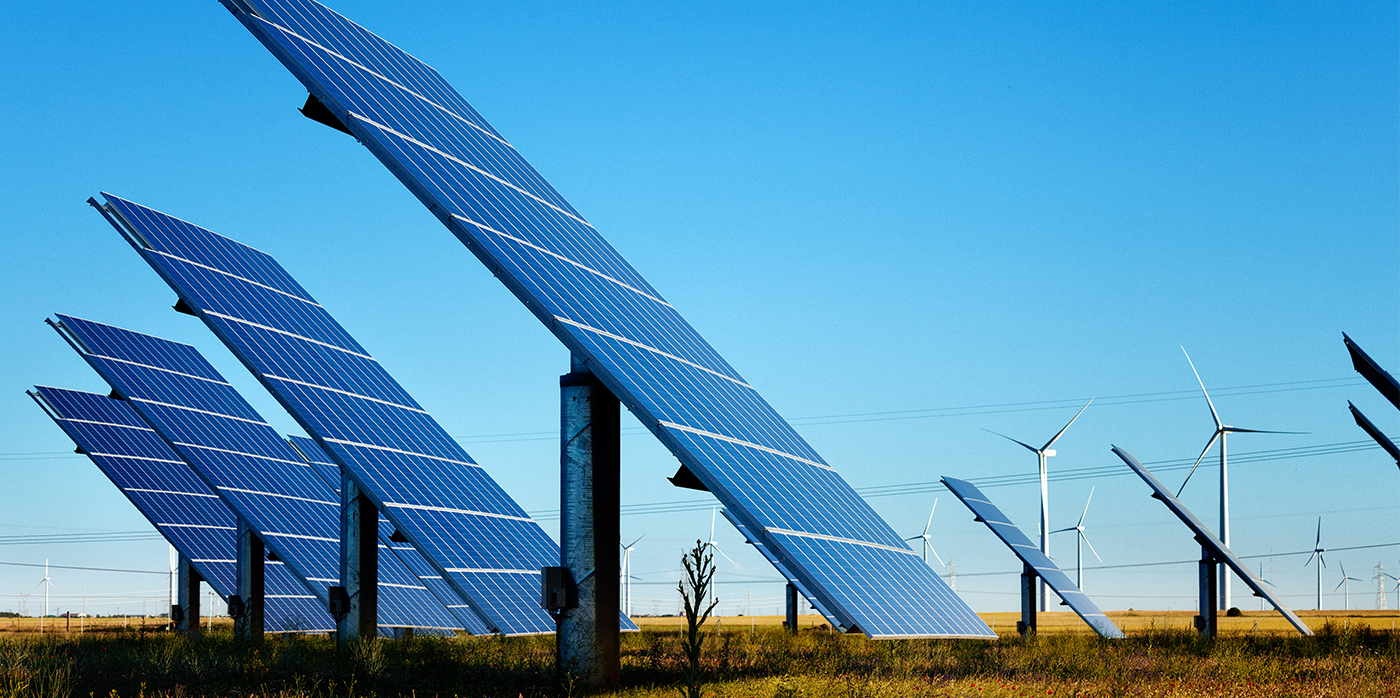 view of solar panels across the landscape